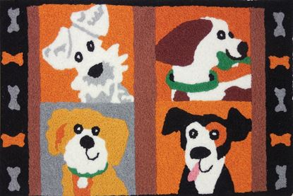 Picture of 4 Square Pups Dog Rug