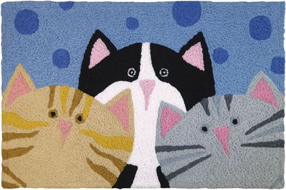 Jellybean Cat Pack Pet Decor 21 x 33 in Washable Accent Rug