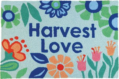 Jellybean Harvest Love Garden Decor 21 x 33 in Washable Accent Rug