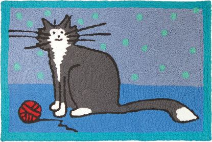 Jellybean It'S A Kitty Thing Pets Decor 21 x 33 in Washable Accent Rug