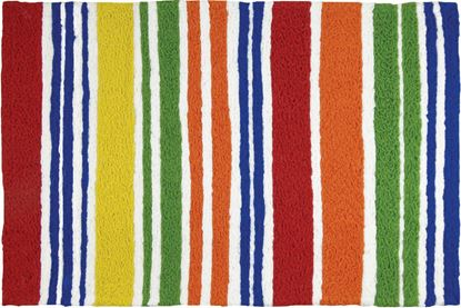 Jellybean Juicy Fruit Stripes Stripes Decor 21 x 33 in Washable Accent Rug