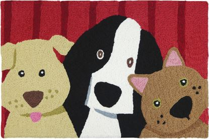 Jellybean Picture Perfect Pet Decor 21 x 33 in Washable Accent Rug