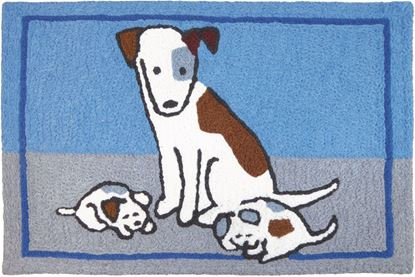 Jellybean Puppy Nap Pets Decor 21 x 33 in Washable Accent Rug
