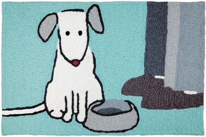 Jellybean Suppertime! Pets Decor 21 x 33 in Washable Accent Rug