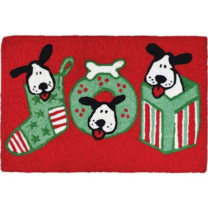 Joyful Puppies Jellybean Holiday Accent Rug