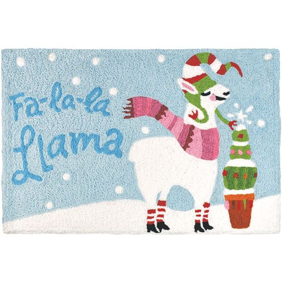 Fa-La-La- Llama Jellybean Holiday Accent Rug