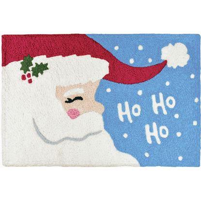 Ho Ho Ho Santa Jellybean Holiday Accent Rug
